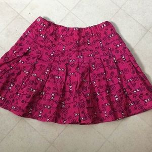 Nike pink with design nylon sports skirt size 12